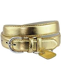 Simple et classique ceinture en cuir véritable et reconstitué avec boucle ronde. Parfaite pour toutes occasions. H001