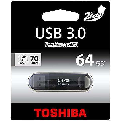 Toshiba THNV64SUZBL-BL5 - Memoria USB 3.0 de 64 GB, negro