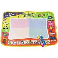 Transer® Juguetes para niños – Magic Pen Aqua Doodle – Tabla de dibujo de agua – 1 mate + 2 bolígrafos de dibujo de agua – juguete educativo para pintar para bebé regalo 45,5 x 29 cm
