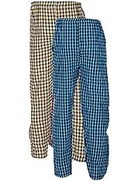 e6420e28e3 FN Style Cotton Chekered Multicolour Casual Pyjamas for Mens (Pack of  2)(Medium