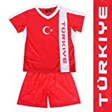 Kinder Fussball Trikot Türkei Oberteil
