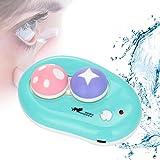 Lentes de Contacto Ultrasónico Limpiado, Proteja sus ojos, Eliminar las bacterias y las proteínas de los lentes de contacto, carga del USB (verde)