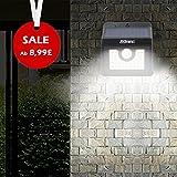30 LED Solarleuchte, Aussenleuchte bewegungsmelder led mit 3 Modi, wandleuchte aussen, IP 65 Wasserdichte für Garten Terrasse Balkon