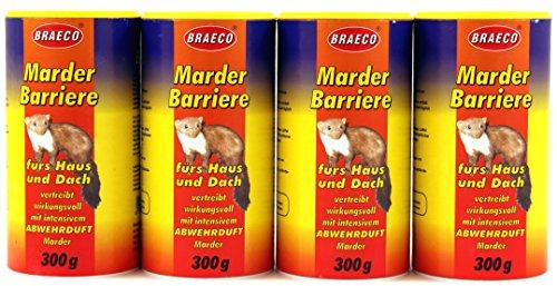 Marder Barriere 600g (2 Dosen) Marderabwehr Marderschreck Marderfalle Marderstop (523) (Mund-barriere)