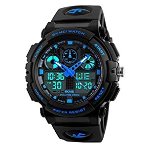 SKMEI Sports Analog-Digital Blue Dial Men's Watch – SkmeiMW56A