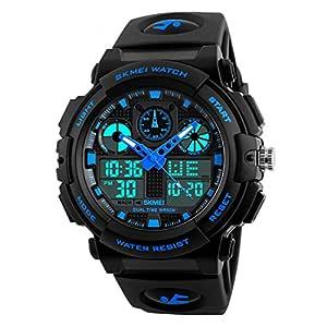 SKMEI Sports Analog-Digital Blue Dial Men's Watch - SkmeiMW56A