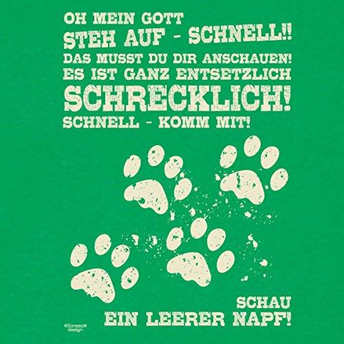 Fun-Shirt für Herren und Tier-Freunde als tolle Geschenk-Idee bis Größe 5XL / Print-Katzenmotiv: Leerer Napf Farbe: hellgrün Hellgrün