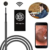 Wifi Ear Endoscope, Bysameyee USB Visual Earpick Ear Cleaning Borescope Earwax Remover Tool Inspection Camera with 6 LED for iPhone Android Windows Mac PC