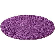 LvRao Alfombra Redondas Habitacion Dormitorio Estera Multifunción Espesor Suave Púrpura Diámetro: 60cm