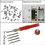 eJiasu Professional Magnetic Project Pad Mat, Schraubensätze, Pentalobe Schraubendreher für iPhone 6/6 Plus / 6S / 6S Plus, iPhone 7/7 Plus(IPhone6 Reparatur-Werkzeug-Set)