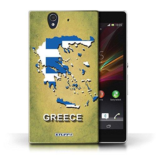 Kobalt® Imprimé Etui / Coque pour Sony Xperia Z / Espagne/Espagnol conception / Série Drapeau Pays Grèce/Grecque
