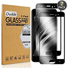 [2 Pack] Owbb Tempered Glass Screen Protector For Xiaomi Mi6 Black Full Coverage Film 99% Hardness High Transparent Explosion-proof