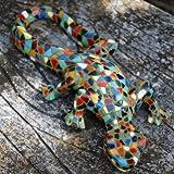 Harlekin Bunte Mosaik Deko Eidechse für den Garten