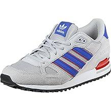adidas Zx 750, Zapatillas de Deporte para Hombre, Gris (Gridos / Azul / Rojbas), 38 EU
