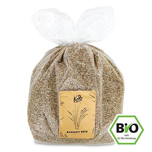KoRo ● BIO Basmatireis ● 2,5 kg ● Naturreis ● Beste Qualität Aus Biologischem Anbau ● Vorteilspackung