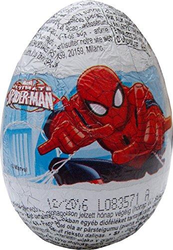 Preisvergleich Produktbild Spiderman Schokolade Überraschung Egg (Packung mit 3)