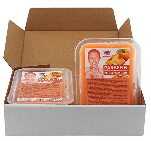 Kosmetex Paraffinwachs Pfirsich, Paraffin-bad mit niedrigeren Schmelzpunkt, 2x 500ml Pfirsich
