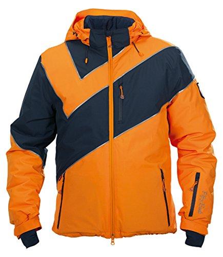 Fifty Five Saint Andrews Herren Skijacke Snowboardjacke - ORANGE BLAU 3XL - Outdoorjacke mit Kapuze Winddicht Wasserdicht