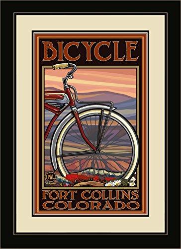 Northwest Art Mall pal-1080mfgdm OHB Fort Collins Colorado Old Hälfte Bike gerahmt Art Wand von Künstler Paul A. lanquist, 13von 40,6cm