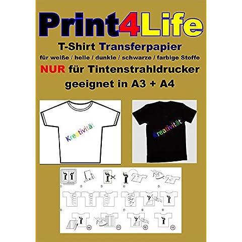 30 fogli di carta trasparente di trasferimento T-shirt / trasferimento A4 per la stampa su (Ferro Sul Tessuto Trasferimento)