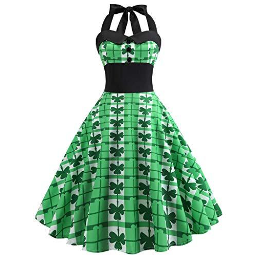 Vintage 50er Jahre Rockabilly Kleid ärmellos Retro Swing Elegantes Abendkleid mit knöpfe Off Schulter cocktailkleid Retro Spitzen schwingen Pinup Rockabilly ()