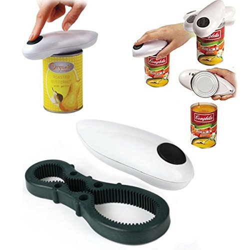 MK Electric Automatic One Touch Hand Held Can Jar Tin Opener Tools Kitchen Gadget Multi Function Opener Assorted Color