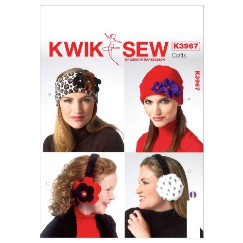 Kwik Sew Mustern k3967alle Größen für Erwachsene und Kinder Hüte und Ohrenschützer, weiß, 1Stück