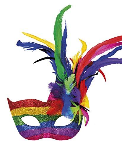 Boland 00211 Augenmaske Venice arcobaleno, One Size