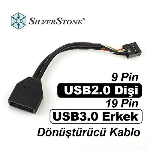 SilverStone G11303050-RT - Cable adaptador interno USB 3.0 a USB 2.0