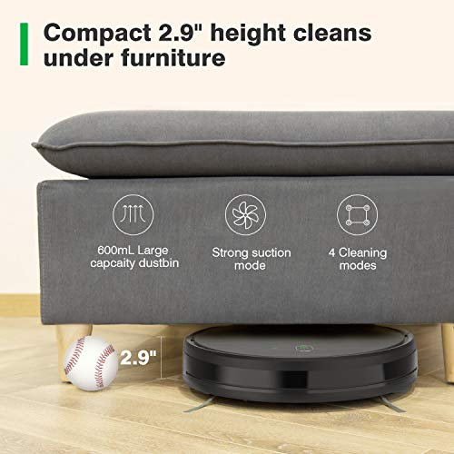 ZIGLINT Robot Aspirador Fregasuelos Control APP & Remoto, Navegación Inteligente Mapeo, Compatible con Alexa & Google Home para Pelo de Mascotas, Suelos Duros y Alfombras, 600 ml de Depósito, 1800Pa