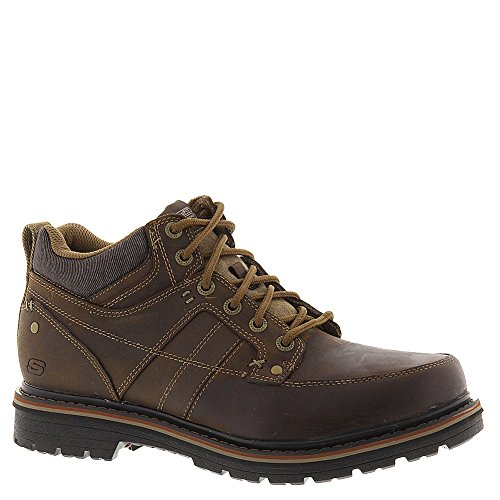 Skechers Relaxed Fit Marcelo Topel Mens Lace Up Boots Dark Brown 11.5