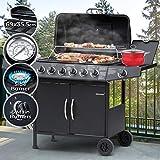 Barbecue a Gas | Griglia con 7 Bruciatori (6+1), in Acciaio, con Termometro e...