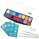 YeahiBaby Gesicht Farbe Set Körper Schminke Malerei Kits Halloween Party Supply für Kinder 14 Farben