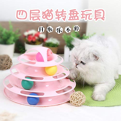 chiping Cat Toy pet Supplies cat Interactive Game Board Toy Four-Layer cat Turntable -