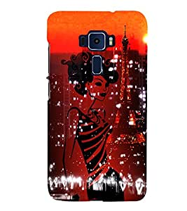 Eiffel Tower New York America 3D Hard Polycarbonate Designer Back Case Cover for Asus Zenfone 3 Deluxe ZS570KL