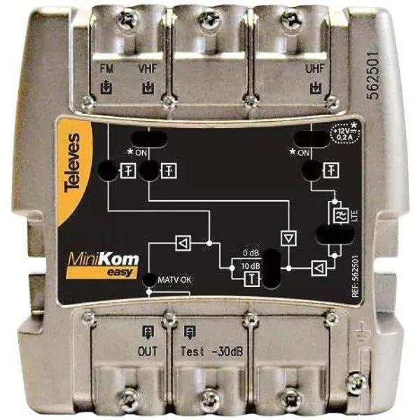 Televes - Amplificador minikom matv 3e/1s easyf: Amazon.es ...