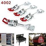 4Pcs Metall Hebel Verschluss Spannverschluss Kistenverschluss Kappenschloss4002 184KG