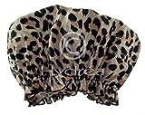 Hydrea Londra Cuffia Per La Doccia Peva, Stampa Leopardo Eco Friendly