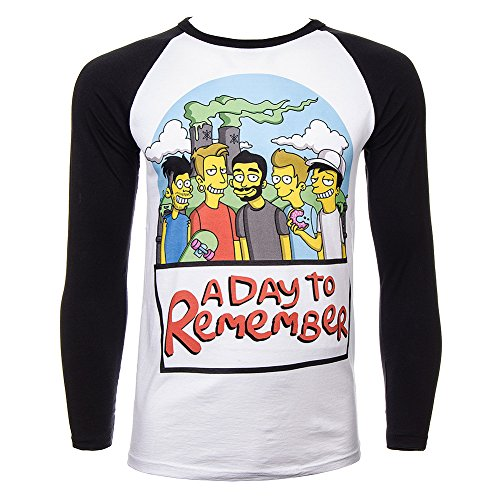 Maglietta A Maniche Lunghe A Day To Remember Simpsons (Multicolore) - Medium