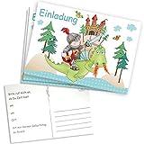 Kleiner Ritter Einladungskarten, 5er, 15x10,5cm