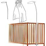 Universal toldo Drape colgador para soporte para cuna de bebé cuna cama–práctico de mosquitera–se adapta a todos los Standart cuna