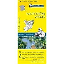 Carte Haute-Saône, Vosges Michelin