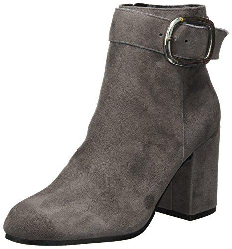Buffalo London Damen 416-8915 Kid Suede Stiefel, Grau (Grey 01), 39 EU (Buffalo Schnalle)