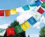 Tibetische Gebetsfahnen 6,75m Baumwolle