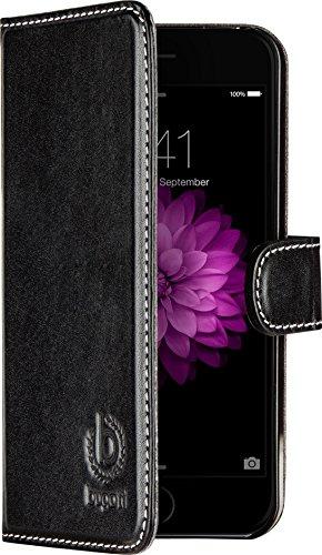 Bugatti BookCase Rome - exklusive Echtleder-Tasche für Apple iPhone 6 / 6S  [Handarbeit | Kartenfach | Magnetverschluss | Logoprägung] -
