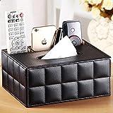 HYLR European Style Home Oberfläche PU Multifunktions-Tissue-Box Pump-Kartons Desktop-Aufbewahrungsbox Kosmetiktücherboxen Taschentuchspender Tissue box Kosmetiktücherboxen Gewebe Kasten Abdeckung Gewebe kleenexbox tücherbox Tissue-Box Tissue Box Holder