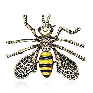AILUOR Unisex Mode Natur Insekt Marienkäfer Tier Emaille Broschen Bee Bumble Bee Spinnen-Legierung Pins Vintage-Schmuck