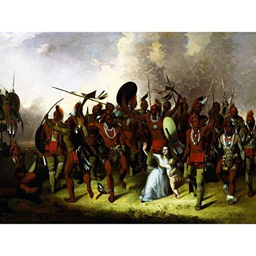 Stanley Osage Scalp Dance Native American Painting Large Wall Art Print Canvas Premium Mural Tanzen amerikanisch Malerei Wand