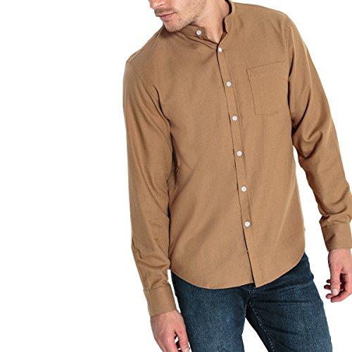 La redoute collections uomo camicia slim collo alla coreana 100 cotone 4748