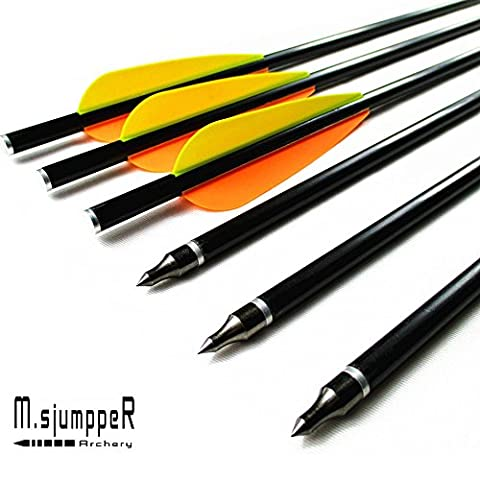 Hunting Fiberglass Crossbow Bolots,MS Jumpper High Quality Glass Fiber Arrows